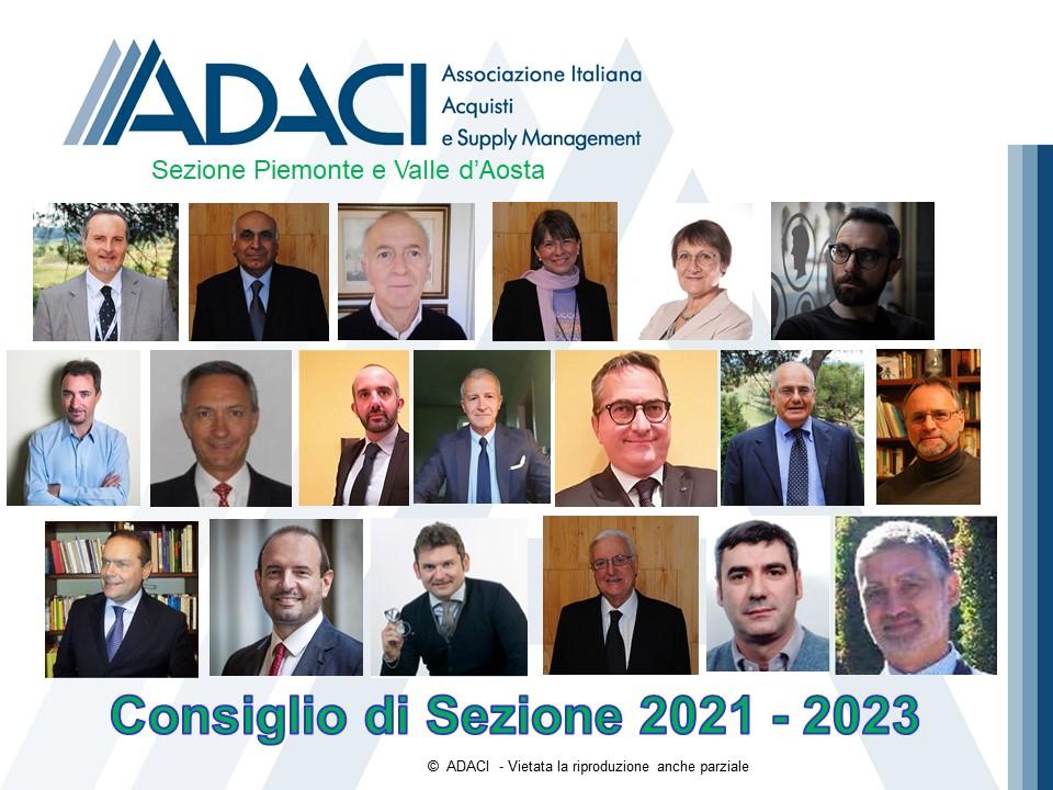 Consiglio ADACI Piemonte e Valle d'Aosta 2021 2023