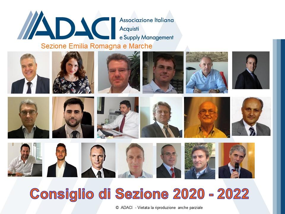 Consiglio Sezione Emilia Romagna e Marchbe 2020 - 2022